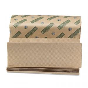 Green Folded Towels, Multi-Fold, Natural, 9 1/8W x 9 1/2L