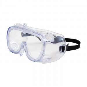 Safety Goggles Clear HC Lens Clear Blue Frame 10/BX