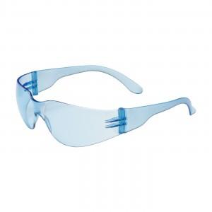 Safety Glasses Rimless Light Blue Wrap Lens&Temple 12/BX 12/CS