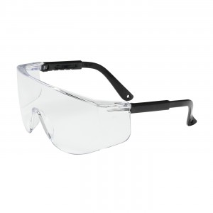 Safety Glasses Clear HC Black Temples Rimless Front 12/BX 12/CS