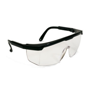Safety Glasses Semi-Rimless Clear LensHC Black Frames 144/CS