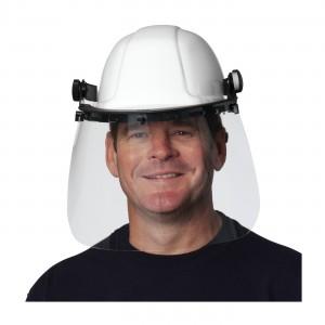 Face Shield Hard Hat Adapter Z87.1+ Black 80/CS
