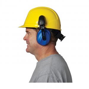 JSP Surefit Contour Ear Muffs, Cap Mounted, 21 dB NRR, Blue, Universal