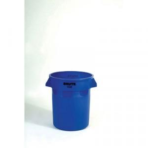 Can Plastic Brute 20 Gallon Blue dia19.5x22.875h