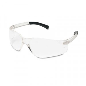 BearKat Safety Glasses Wraparound Black Frame/Clear Lens 12/BX