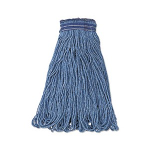 Mop Head Loop End Blue Cotton/Synthetic Large 24oz 12/CS