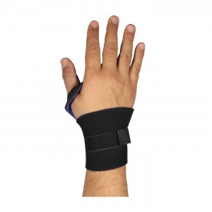 Wrist Support, Light Neoprene with Punched Thumb Loop, OSFM, Black