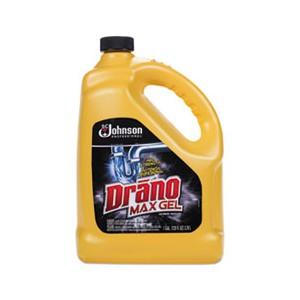 Drain Cleaner Max Gel Clog Drano Bleach Scent 4/128OZ