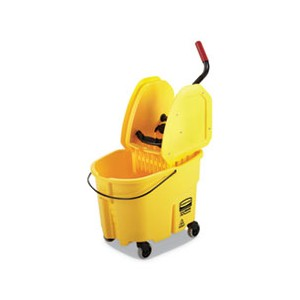 Bucket/Wringer 35 Quart Yellow WaveBrake 2.0