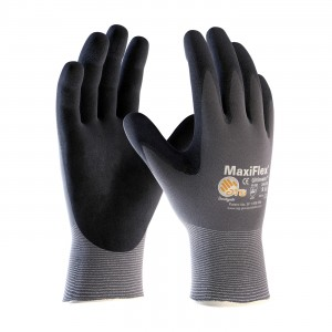 MaxiFlex Ultimate 34-874 MicroFoam Nitrile Coated Grip Work Gloves (Pack of 12 Pairs)