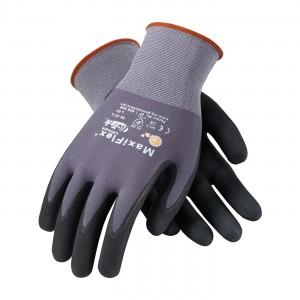 Glove Micro Foam Black Nitrile Coated Palm & Finger Large 12DZPR/C