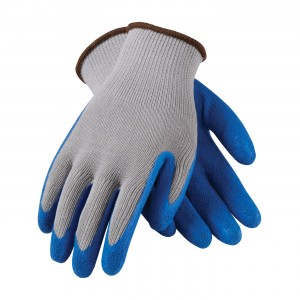 Glove Cotton/Poly Latex Coated Blue Economy Large 6DZPR/CS