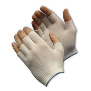 """Glove Nylon 9"""" Knit Half Finger Liner LG 1DZPR/BG 25/CS"""