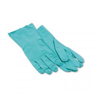 "Glove Nitrile Flock Lined 13"" 15-18mil Green Large 12/DZPR"