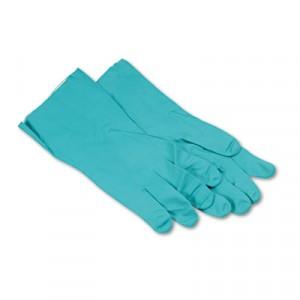 "Glove Nitrile Flock Lined 13"" 15-18mil Green XLarge 12/DZPR"