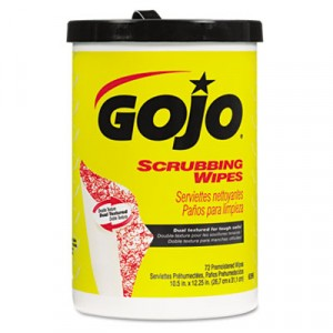 Scrubbing Wipes, Heavy Duty Hand Cleaning, 10 1/2x12 1/4