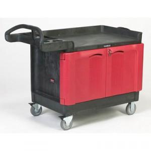 TradeMaster Cart, 500-lb Cap., 1 Shelf, 26 1/4w x 49d x 38 1/4h, Black
