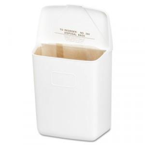 Health Gards Convertible Sanitary Napkin Receptacle, Plastic, 1 gal, White