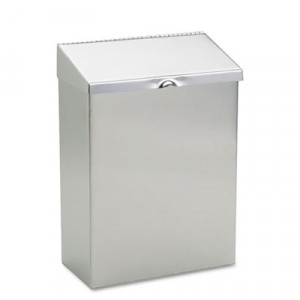 Wall Mount Sanitary Napkin Receptacle, 8x4x11, Stainless Steel