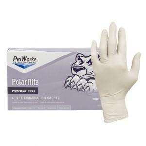 """Glove Nitrile Examination 9.5"""" Powder Free 4Mil White Small 100/BX 10/CS"""
