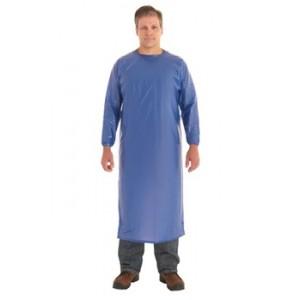 Apron Vinyl 8M Coat Style Individually Bagged Blue Medium 1/BG 12/CS