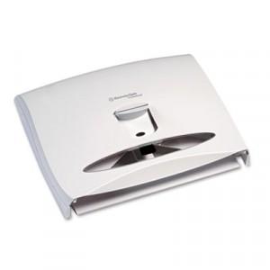 WINDOWS Toilet Seat Cover Dispenser, 17 1/2x3 1/4x13 1/4, White Pearl