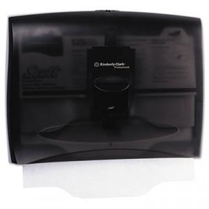 IN-SIGHT Toilet Seat Cover Dispenser, 17 1/2x3 1/4x13 1/4, Smoke/Gray