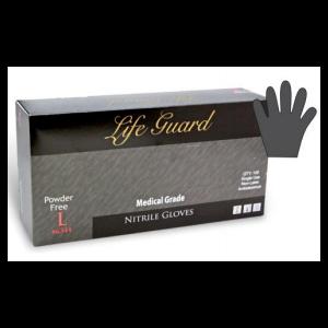 "Glove Nitrile 9.5"""" 5Mil FDA Medical/Exam P/F Black Small. 100/BX 10/CS"