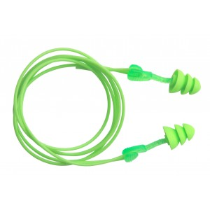 "Earplugs Reusable Washable ""GLIDE"" Green W/Cord 50/BX 4/CS"