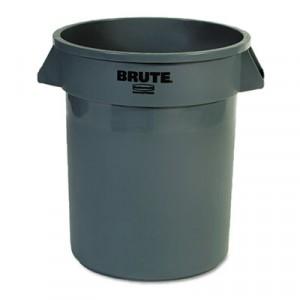 Can Plastic Brute 20 Gallon Gray dia19.5x22.875h