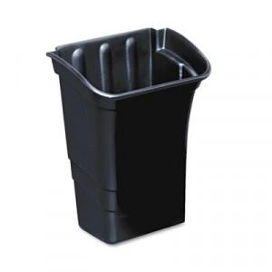 Optional Utility Cart Refuse/Utility Bin, Rectangular, 8 gal, Black