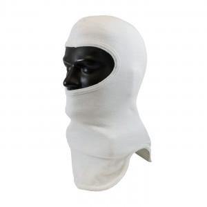 100% Nomex Full Face, White Tri-Cut Design, 2-Ply Head & Bib, NFPA 1971