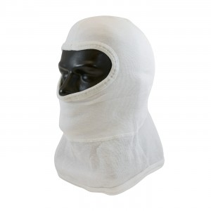 100% Nomex Full Face, White Str-Cut Design, 2-Ply Head & Bib, NFPA 1971