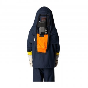 40 Cal FR Ultralight Ventilated Hood, Protected Power Unit, Navy