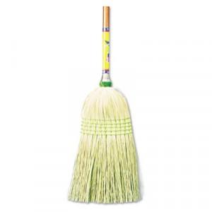 "Broom Corn 42"" Wood Handle 12/CS"