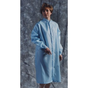 Vidaro Polyester Taffeta Cleanroom Frock, Long Sleeves, White