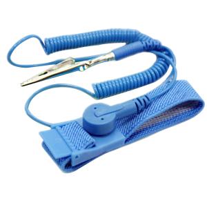"Wrist Strap Safestrap II Adj. w/clip & 10' Blue Coil Cord 3/8"" Snap 250/CS"
