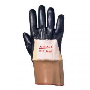 Nitrasafe Kevlar Work Gloves, Size 10 (X-Large), Kevlar/Nitrile/Jersey, Black/Brown
