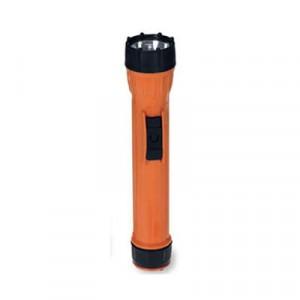 WorkSafe I Model 2224 Waterproof Flashlight, On/Off/Flash, 3D, Orange/Black