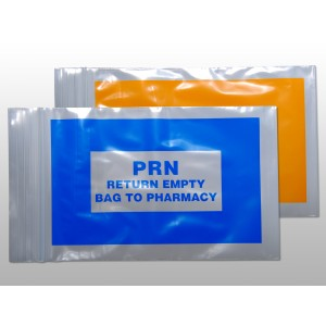Bag Poly 2x3 2Mil Ziplock w/Print Blue PRN 1000/CS
