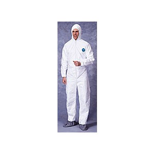 Coveralls, Tyvek, with Hood & Boot, Case of 25