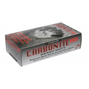 Carbonite HD Heavy Duty Black Nitrile Examination Gloves (1,000 per case)