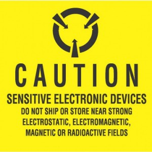 "Label 2x2 ""Caution"" Static Aware ESD 3M 500/RL"