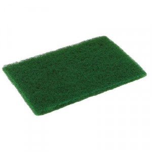 Medium Duty Scouring Pad, 6x9, Green, 10 per Pack
