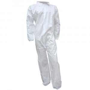 Coveralls, Microporous, No Hood/Boot, Zipper Front, White, Case of 25