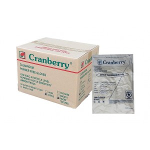 """Cranberry 12"""" Class 100 Nitrile Cleanroom Gloves (case of 1,000)"""