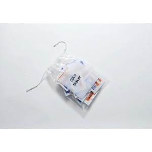 Bag Polypropylene 4.5x6 1.5Mil Pull-Tite Drawstring w/White Block 1000/CS