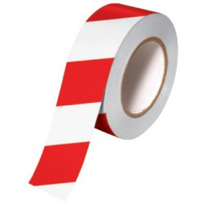 Tape Aisle Marking 2x36yd Red/White 24/CS