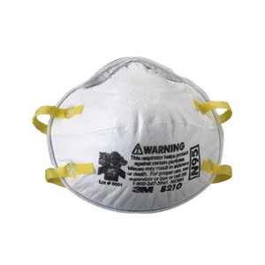Face Mask Dust Respirator 3M#8210 20/BX 8/CS