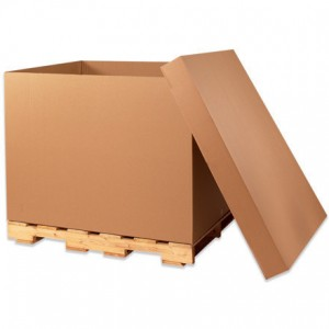 HSC 48x40x36 275# Doublewall Kraft Corrugated Container 5/80